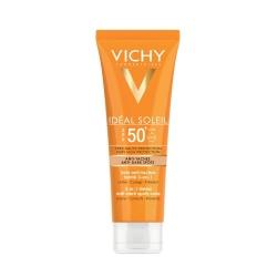 Vichy Ideal Soleil Spf 50 + Cuidado Facial Antimanchas Color 3 en 1 50 ml