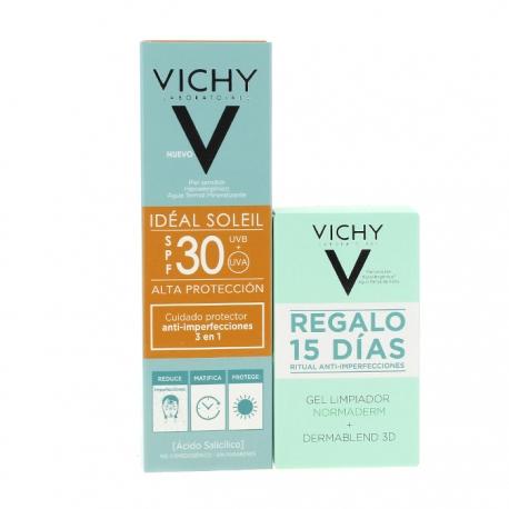 VICHY Cuidado Protector Anti-imperfecciones 3 en 1 SPF 30 50 ml