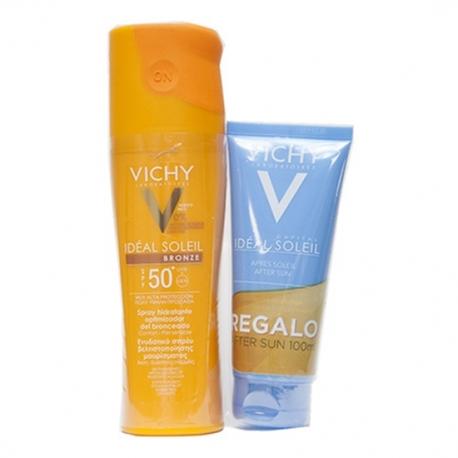 Vichy Ideal Soleil Bronze SPF50+ Spray Hidratante Optimizador Bronceado 200ml + REGALO After Sun 100ml