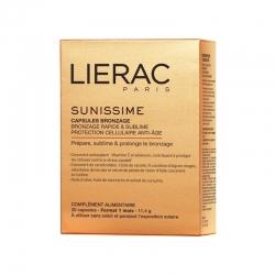 LIERAC SUNISSIME Cápsulas Solares 30 Bronceado Rápido & Protección Celular Anti-edad 30 Cápsulas