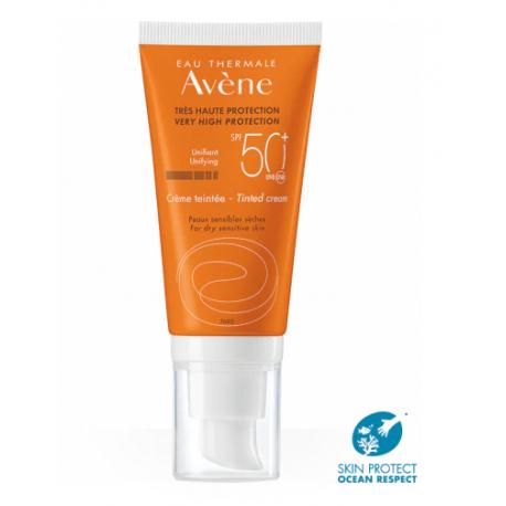 AVÉNE Crema Facial COLOREADA Muy Alta Protección SPF 50 + 50 ml