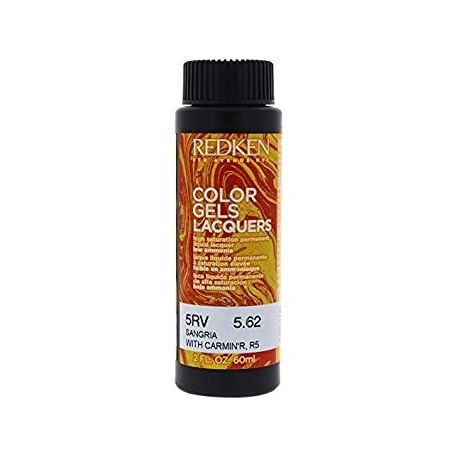 REDKEN Color Gels Lacquers Coloración Permanente Color 5RV Sangria 5.62 60 ml