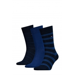 Pack 3 pares calcetines Tommy Hilfiger Hombre Azules Talla 43/46