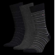 Pack 3 pares calcetines Tommy Hilfiger Hombre Grises Talla 39/42