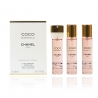 CHANEL Coco Mademoiselle Eau De Toilette 3 Recargas Twist & Spray 3 X 20 ml