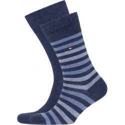 Pack 2 pares calcetines Combinados Tommy Hilfiger Hombre Azul Jean Talla 43/46
