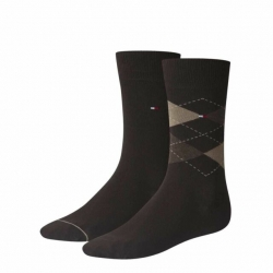 Pack 2 pares calcetines Combinados Tommy Hilfiger Hombre Marrón Talla 39/42