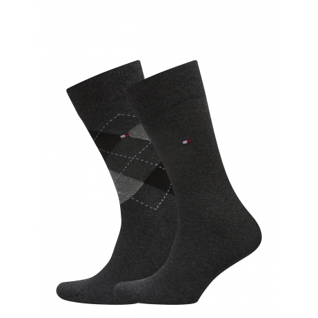 Pack 2 pares calcetines Combinados Tommy Hilfiger Hombre Gris Talla 43/46
