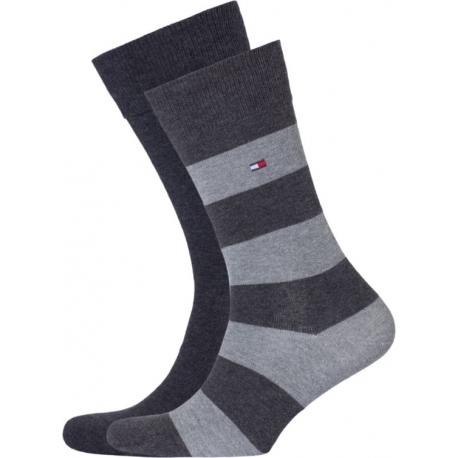 Pack 2 pares calcetines Combinados Tommy Hilfiger Hombre Gris/Gris Marengo Talla 43/46