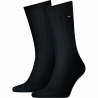 Pack 2 pares calcetines Canalé Tommy Hilfiger Hombre Negro Talla 43/46