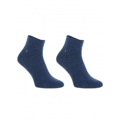Pack 2 pares calcetines Cortos Tommy Hilfiger Hombre Azul Jean Talla 43/46