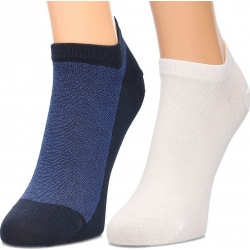 Pack 2 pares calcetines Tobilleros Tommy Hilfiger Hombre Azul Marino y Blanco Talla 43/46