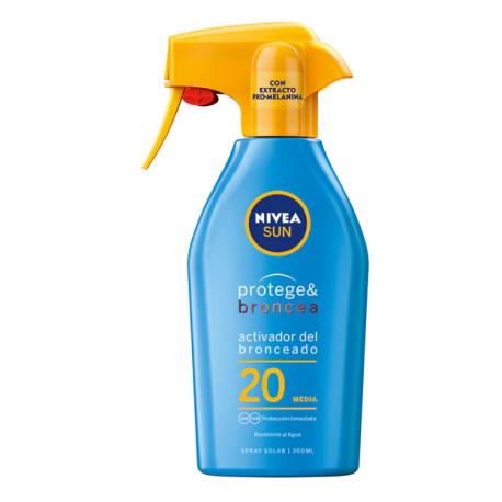 NIVEA Sun Protege & Broncea Spray Solar Spf 20 300 ml