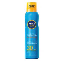 NIVEA Sun Protege & Broncea Activador del Bronceado Aceite en Bruma Spf 30 200 ml