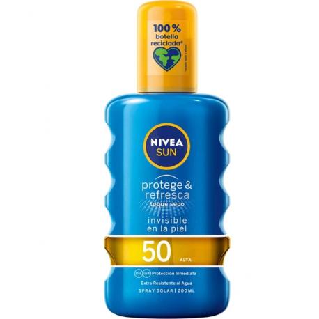 NIVEA Sun Protege & Refresca Spray Solar Invisible Spf 50 200 ml