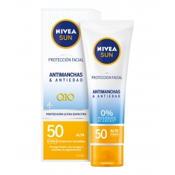 NIVEA Sun Protección Facial Antimanchas & Antiedad Q10 Spf 50 + 50 ml
