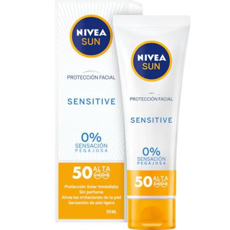 NIVEA Sun Protección Facial SENSITIVE Spf 50 + 50 ml