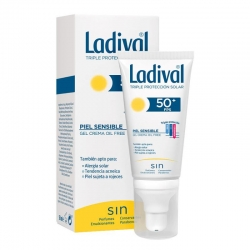 LADIVAL Protector Facial SPF 50 Piel Sensible Gel Crema Oil Free 50 ml