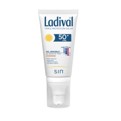 LADIVAL Protector Facial SPF 50 Piel Sensible Gel Crema CON COLOR Oil Free 50 ml