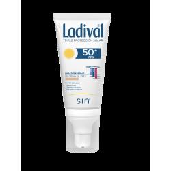 LADIVAL Protector Facial SPF 50 Piel Sensible Gel Crema CON COLOR Oil Free 50 ml