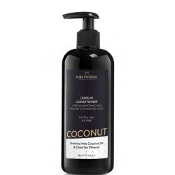 Pure Mineral Dead Sea Cosmetics Acondicionador sin Aclarado con Aceite de Coco 350 ml