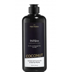 Pure Mineral Dead Sea Cosmetics Champú con Aceite de Coco 500 ml