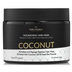 Pure Mineral Dead Sea Cosmetics Mascarilla Capilar con Aceite de Coco 350 ml