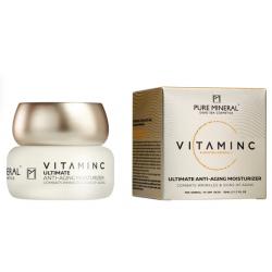 Pure Mineral Dead Sea Cosmetics Crema Vitamina C Antiedad Piel Normal y Seca 50 ml