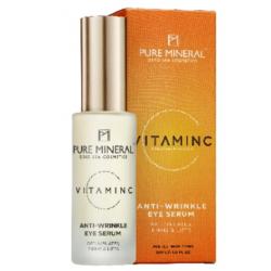 Pure Mineral Dead Sea Cosmetics Serum Contorno de Ojos Vitamina C 30 ml