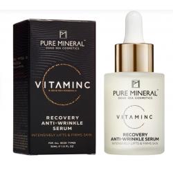 Pure Mineral Dead Sea Cosmetics Suero Vitamina C Antiarrugas De Recuperación 30 ml