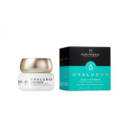 Pure Mineral Dead Sea Cosmetics Crema Hidratante Hyaluron Multi Vitaminas 50 ml