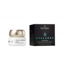Pure Mineral Dead Sea Cosmetics Crema de Noche Luminosa Hyaluron 50 ml